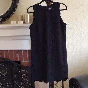 Vince Camuto Black Scalloped Dress